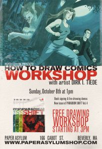 How to Draw Comics Workshop poster