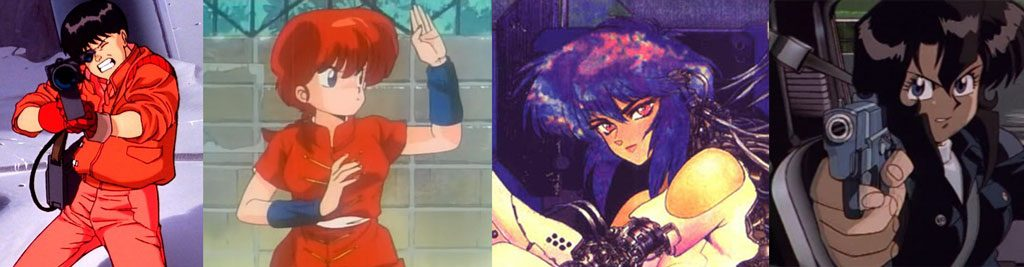 AKIRA / Ranma 1/2 / Ghost in the Shell / Gunsmith Cats