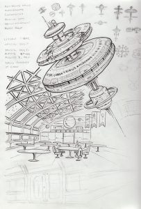 Space school concept sketches