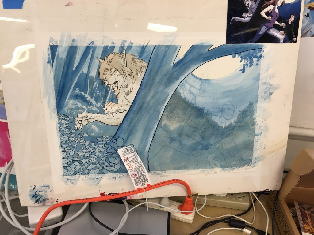 Background underpainting
