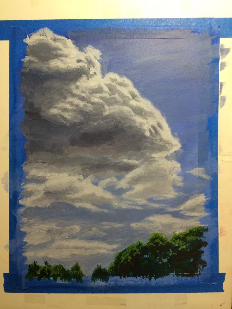 Cloud study - acrylic
