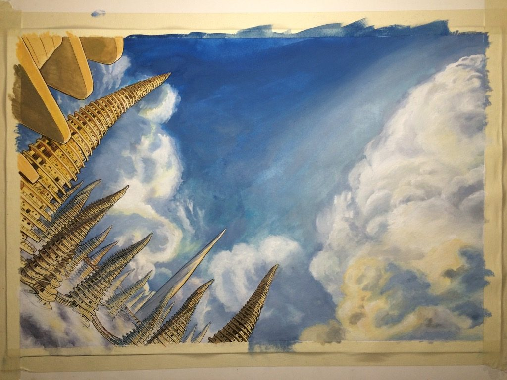 Final background painting